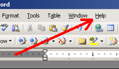 Help menu for 2003 and earlier