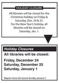 Holiday closure sign: before and after