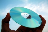 Photo of a disk held up to the light of day