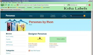 Koha Labels Persona