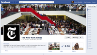 Facebook milestones extend the NYT's timeline on the right of the page