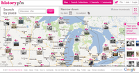 Historypin - map