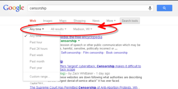 Google Search Tools