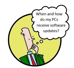 How do my PCs get software updates?
