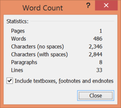 TB - word count results