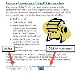 Author comments