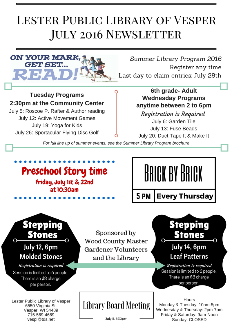 July 2016 Newsletter(1)