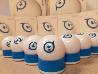 Several Spheros Silently Sitting Still