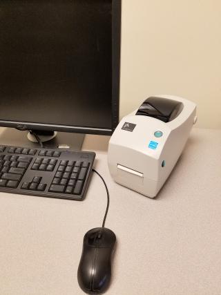 Zebra Printer, it's a little larger than the Dymo printer
