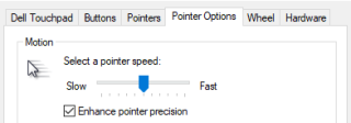 Pointer Speed