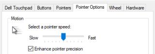 Pointer Speed
