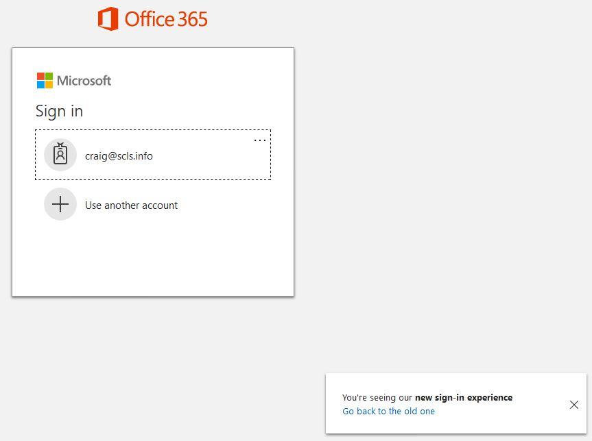 office 365 log in