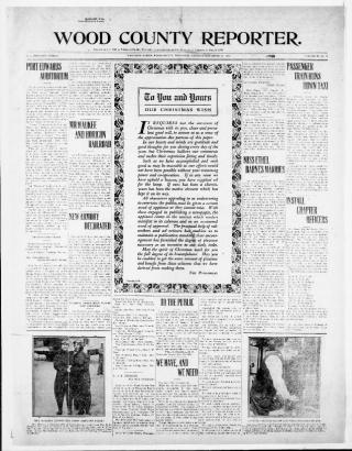 Wood County Reporter, December 23, 1920