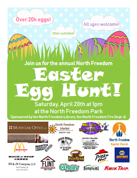 2019 egg hunt flyer