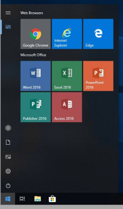 Windows 10 Patron Start Menu