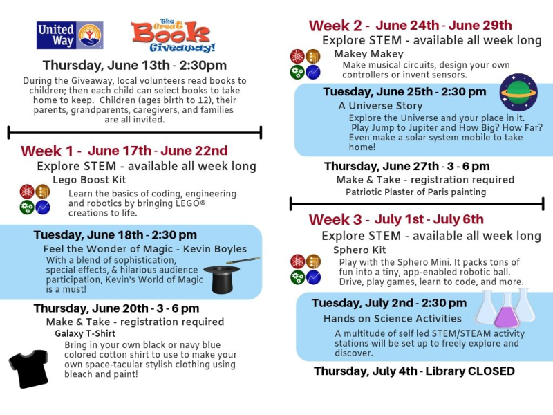 Summer Library Program Brochure - digital addition - Lester