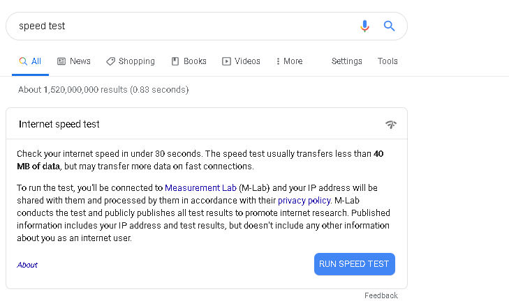 Googlespeed