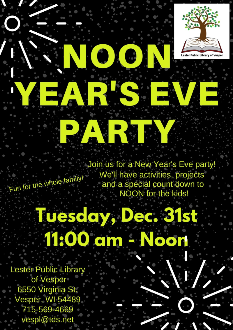 Noon Year's Eve Celebration 2019