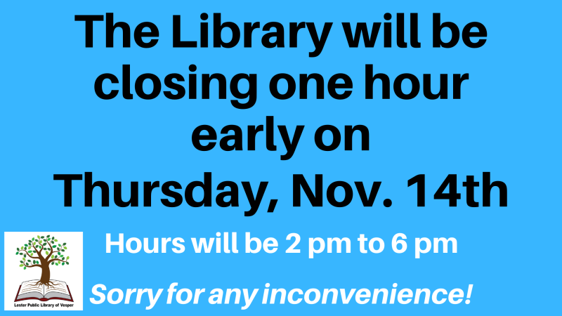 Copy of Thanksgiving Library CLOSED
