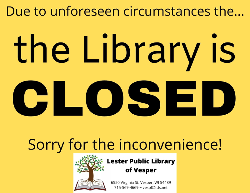 LIBRARY is CLOSED