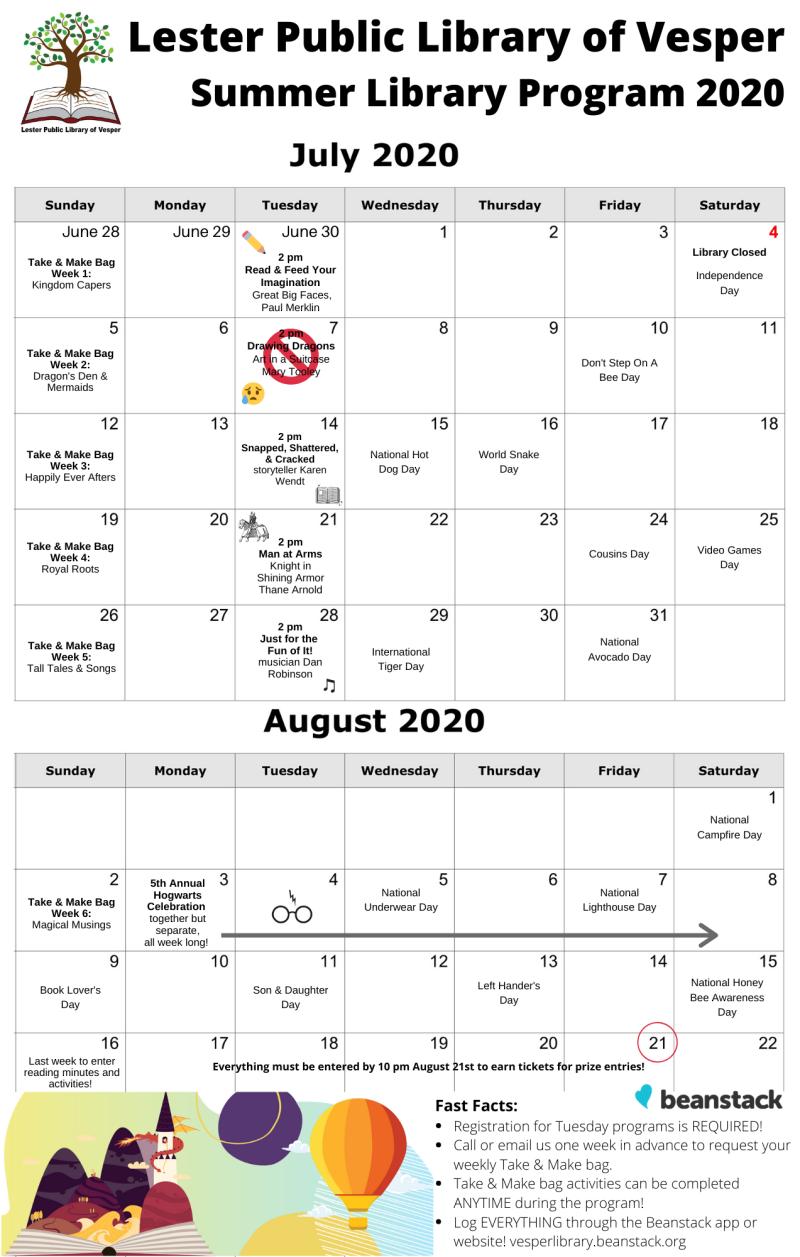 2020 SLP calendar