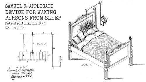 US256265-Device for waking persons from sleep