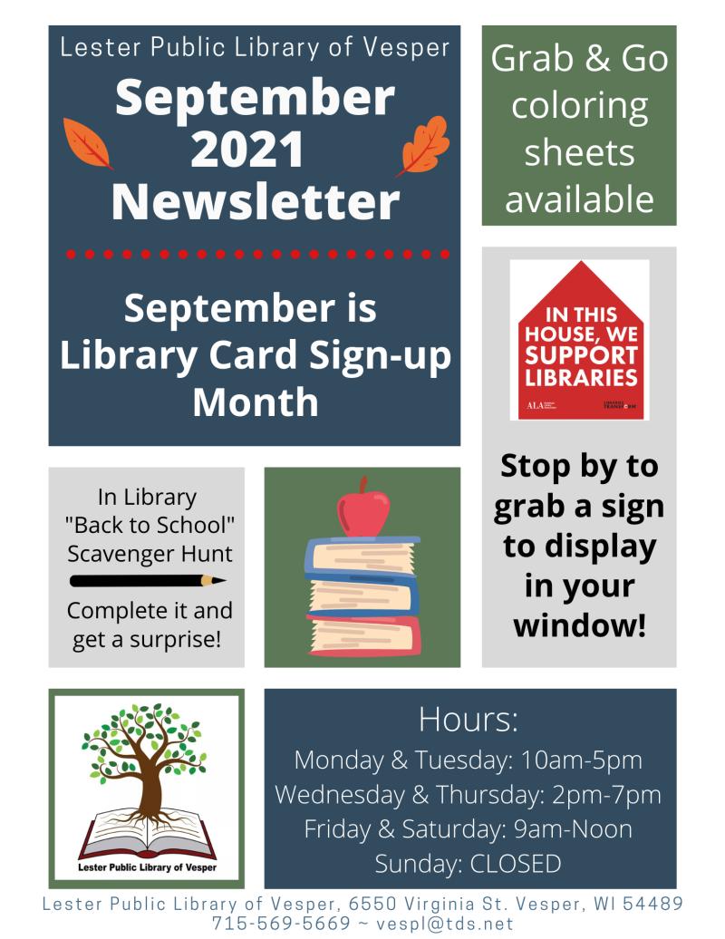 Sept 2021 newsletter